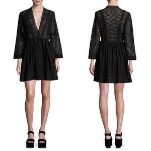IRO Leonore Wrap Front Dress in Black NWT